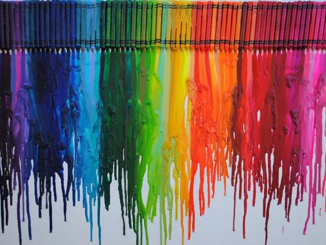 Color black crayon